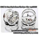 1/10 RC Car 26mm 5 Spoke Chrome Wheel 4pcs - Silver  - rcvp3320159