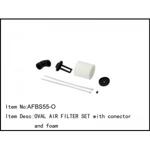 [AFBS55O] OVAL AIR FILTER SET with connector and foam