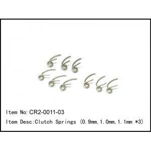 CR2-0011-03 Clutch Springs (0.9mm,1.0mm,1.1mm *3)