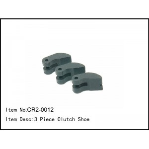 CR2-0012 3 Piece Clutch Shoe 1/8