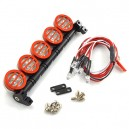 Yeah Racing 1/10 Aluminum Roof 5 White LED Light Set For RC Truck Crawler YA-0370