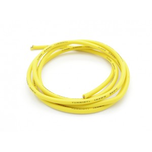 Turnigy Pure-Silicone Wire 14AWG - Yellow (10cm)