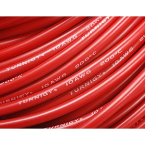 [SW10AWGR] Turnigy Pure-Silicone Wire 10AWG - Red (10cm)