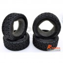 AX-8006 1/10 RC ON-ROAD TOURING / RALLY CAR L PATTERN PERFORMANCE RUBBER RACING TYRES / TIRES (4PCS)