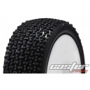 CR5-003-A31PW 1/8 Buggy Racing Tires Soft-A31 Pre-glued with White Wheels