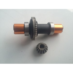 F18PT-027 Diff Set Metal 35T and Metal Pinion 14T