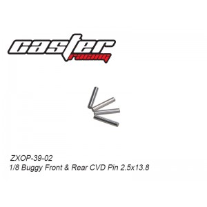 ZXOP-39-02 1/8 Buggy Center Front and Rear CVD Pin 2.5x13.8