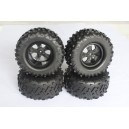 Monster Truck 1/8 Tires Black Cutter/V-blocks (4Pcs)