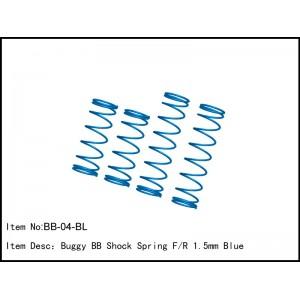 BB-04-BL Buggy BB Shock Spring F/R 1.5mm Blue