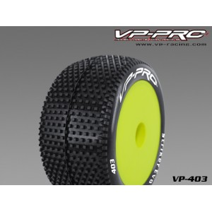 VP403U-RY-K-SF VP PRO Striker Evo 1/10 Offroad Buggy Rear Rubber Tyre Unglued Yellow Super Flexx (2pcs)