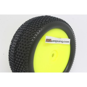 VP303U-RY-K-SF VP PRO Striker Evo 1/10 Offroad Buggy Front Rubber Tyre Unglued Yellow Super Flexx (2pcs)