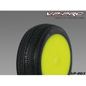 VP203U-RY-KF VP PRO Friction 1/10 2wd Offroad Buggy Front Rubber Tyre Unglued Yellow Super Flexx (2pcs)