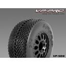 VP504U-RB-UF Turbo Trax 1/10 Short Course Truggy Rubber Tyre Black Soft Flexx (2pcs)