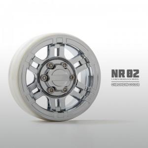 [GM70265]1.9 NR02 beadlock wheels (Chrome) (2pcs)