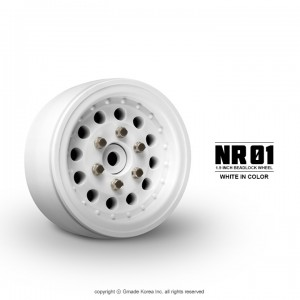 "[GM70226] NR01 1.9"" beadlock wheels (White) 2pcs"