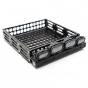 [YA-0381] 1/10 RC Rock Crawler Accessories Aluminum Luggage Tray w/ 4 White Light