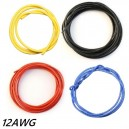 SILICON WIRE 12 GAUGE / 12AWG BLACK (10cm)