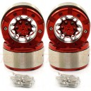 Xtra Speed Aluminum 1.9 Inch 6 Spoke Heavy Duty Beadlock Wheel For 1/10 RC Crawler (4pcs) Red [XS-59207]