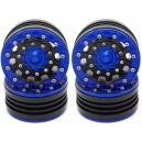 Xtra Speed Aluminum 1.9 Inch XD Iron Clock Mass Bead Lock Wheel For 1/10 RC Crawler (4pcs) Blue [XS-59206]