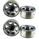 [760908] 1.9 HM Beadlock Alloy Wheel Star-6 4pcs