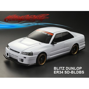 MATRIXLINE PC201402 BLITZ DUNLOP NISSAN ER34 SD-BLDBS PC 1/10 CLEAR BODY SHELL