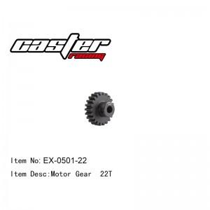 EX-0501-22 Motor Gear 22T Mod1 Shaft 5mm Baja
