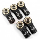 [YA-0550BK] Yeah Racing Aluminum M3 Rod Ends (5pcs) Black