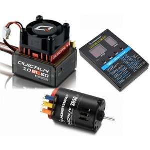 COMBO HOBBYWING QUICRUN 60A 3650SD 17.5T 2170KV SENSORED BRUSHLESS