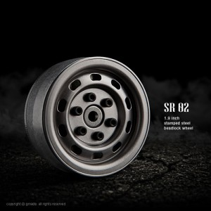 [GM70177] 1.9 SR02 Steel beadlock wheels (Uncoated Steel) (2pcs)