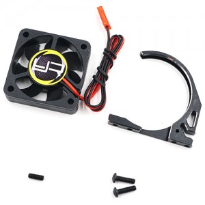 YA-0581BK Aluminum 7075 Fan Mount With YA-0327 40mm Tornado Fan for 1/8 Motor Black