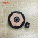 [W16024] KYX HD STEEL SPUR GEAR 56T/12T 32P For Axial Yeti RR10 Bomber 1/10