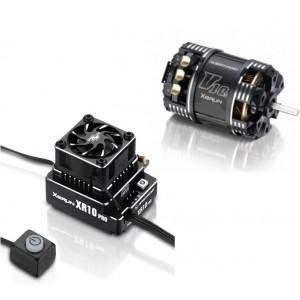 Combo Hobbywing Xerun XR10 PRO G2 160A ESC + Xerun V10 G3 4.5T Motor Brushless Sensored