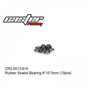 CR2-0013-610 Rubber Sealed Bearing 6x10x3mm (10pcs)