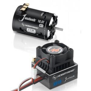COMBO HOBBYWING JUSTOCK JS2 XR10 60A G2.1 10.5T Sensored Brushless