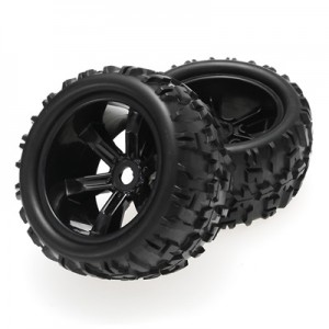 [8477] ZD Racing Monster Truck Offroad 1/8 Wheel & Tire Set Pre Glued 4pcs