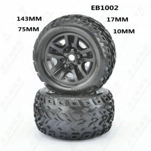 EB1002 JLB Racing 1/10 Wheel Complete 2pcs CHEETAH 21101 11101