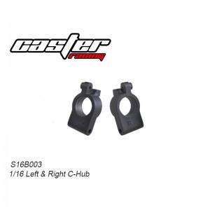 S16B003 1/16 Buggy Left & Rear C-Hub