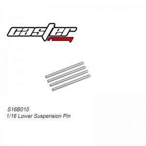 S16B010 1/16 Buggy Lower Suspension Pin 4pcs