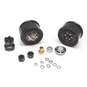 BRW780907FBK Boom Racing 1.55 Yota LC Classic Beadlock Wheels (4pcs) with 3mm Wideners
