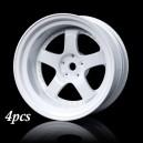MST Rc Car Velg SP1 Wheel Offset 9 White 1/10 Drift Rims 4pcs 832052W