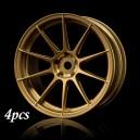 MST Rc Car Velg 5H Offset 3 Gold 1/10 Drift Rims 4pcs 832059GD