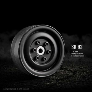 1.9 SR03 Alloy beadlock wheels (Matt black) (2pcs)