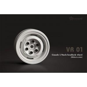 1.9 VR01 beadlock wheels (white) 2pcs